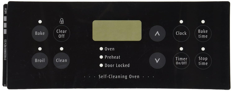 Frigidaire 316220805 Overlay Range/Stove/Oven