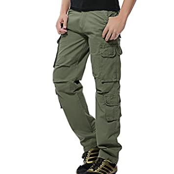 Ayg Mens Cargo Work Trousers Cotton Pants Camping Hiking Uk 29 46