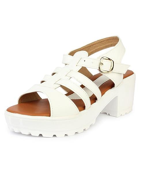 fc8bc3b1e1e Do Bhai Speed Block Heels for Women (EU41