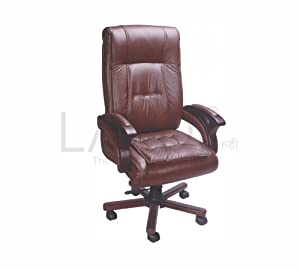 LAKDI Fully Cushioned Ergonomic CEO, Director, Executive High Back revolving Office Chair with Height Adjustment