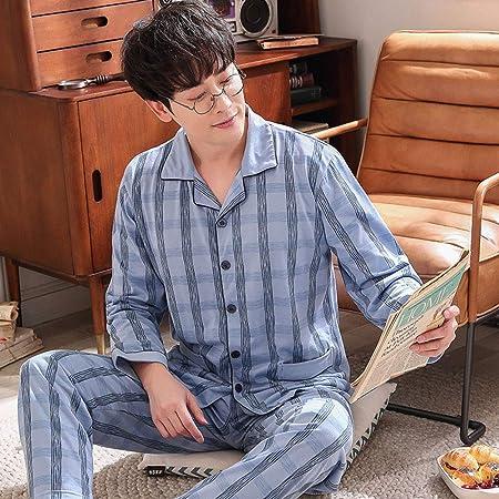 LGLE - Conjunto de pijama de algodón para hombre: Amazon.es ...