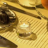 DONOUCLS Crystal Votive Tealight Holders