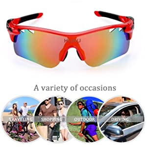 FiveBox Polarized U.V Protection Sports Glasses