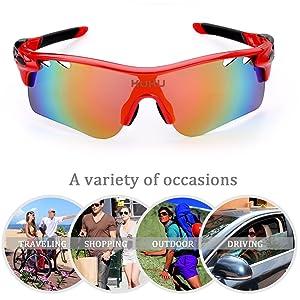 FiveBox Polarized U.V Protection Sports Glasses