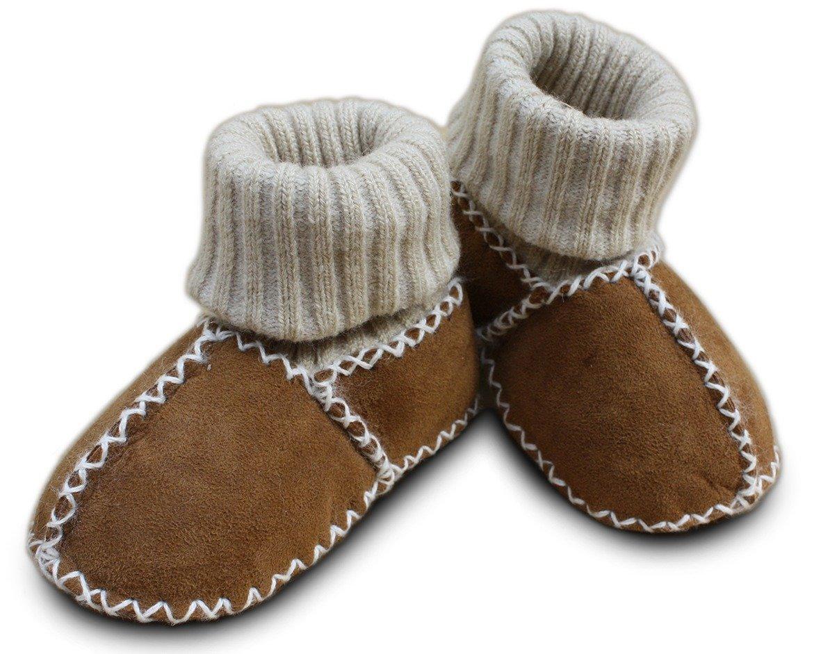 Erstlingsschuhe Baby Lammfellschuhe Strümpfe Socken (16/17, camel) Heitmann 928