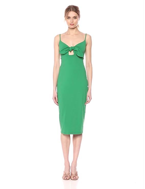 593c2b371e1b Amazon.com  Susana Monaco Women s Isadora Bow Detail Midi Dress with  Spaghetti Straps  Clothing