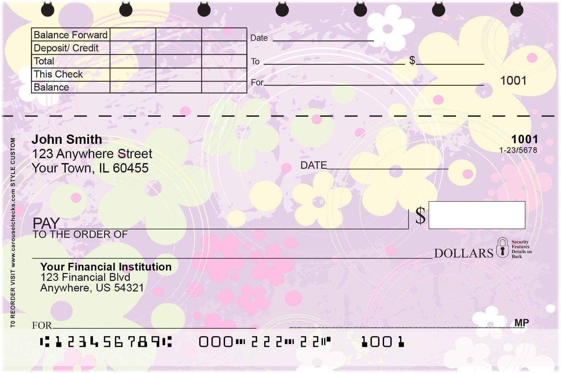 Aloha Flowers Top Stub Personal Checks