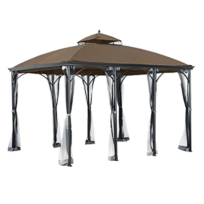 Garden Winds Replacement Canopy for Sommerset Gazebo - Riplock 350 - Nutmeg : Garden & Outdoor