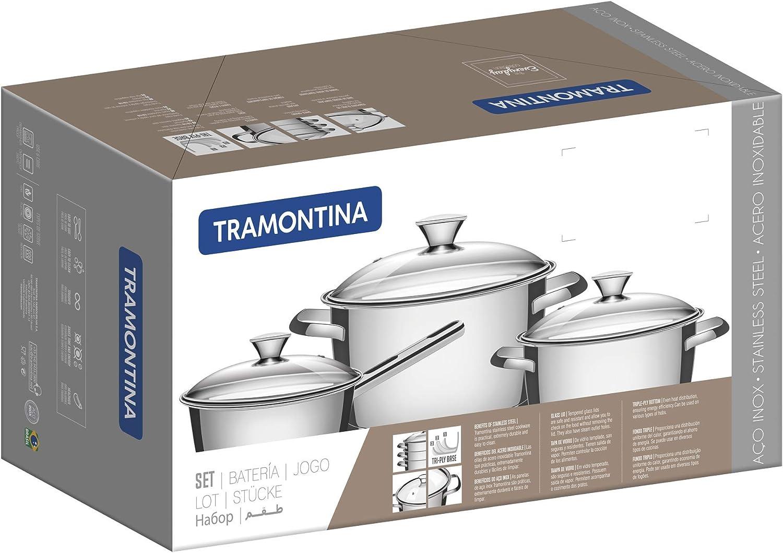 Tramontina 65660//484 Batterie de cuisine en acier inoxydable
