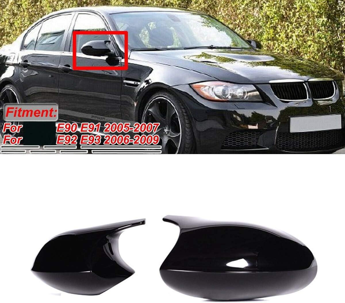 Basage M3 Style Black Replacement Mirror Cap Cover for 3 Series E90 E91 E92 E93 Pre-LCI