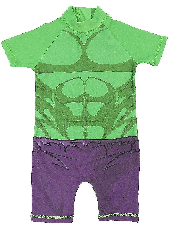 Amazon.com: Niños Sol seguro trajes de baño super hero una ...