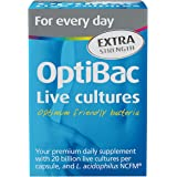 OptiBac Live Cultures - 'For every day EXTRA Strength' - 30 Capsules