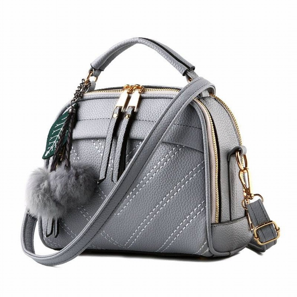 Lederhandtaschen Öl Wachs Leder Mode Allgleiches Handtasche Schulter Messenger Bag , hellgrau