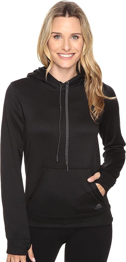 7cdfdc43f9fb adidas Women s Ultimate Fleece Pullover Hoodie Black Colored Heather  Sweatshirt