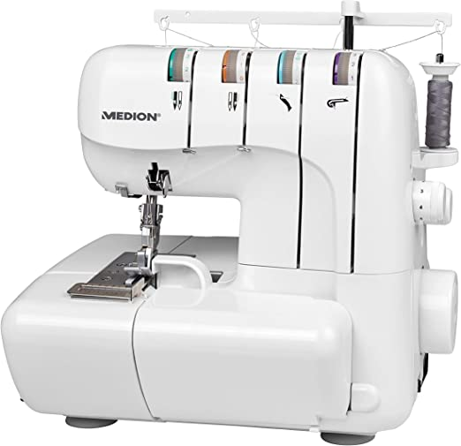 Medion Overlock MD18030 - Máquina de coser (100 W, 1300 rpm, luz ...