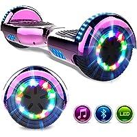 GeekMe Patinete Eléctrico 6.5 '' Self Balance Scooter Las Ruedas LED Luces, Scooter eléctrico con Bluetooth- UL2272 Certificado el Patinete Eléctrico 2 * 350W