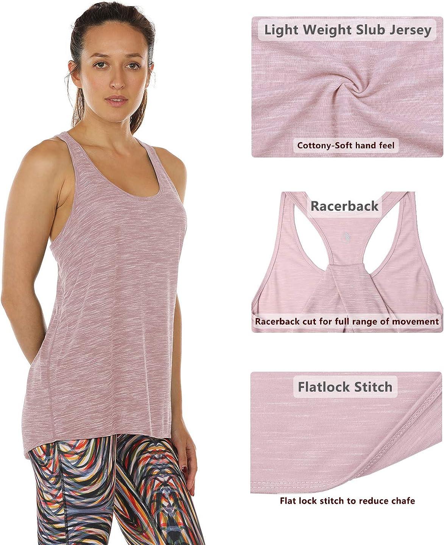 icyzone Camiseta sin Mangasde Fitness para Mujer