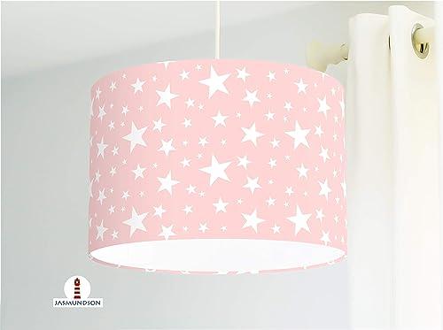 Lampe Kinderzimmer Mädchen mit weißen Sternen aus ...