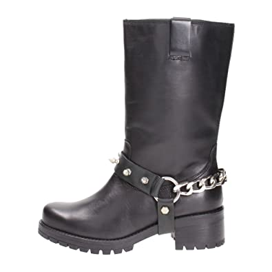 8f70ea5f341523 Cult CLE101995 Stiefel Damen Leder Schwarz 41  Amazon.de  Schuhe ...