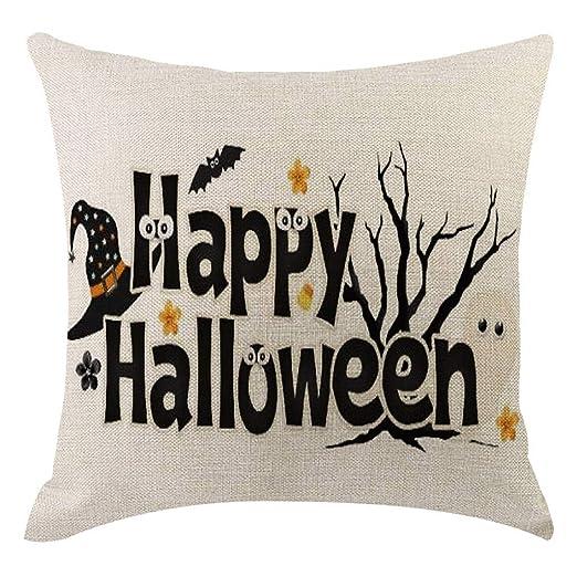 Amazon.com: Funda de cojín de calabaza para Halloween ...
