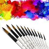 Pointed Round Paint Brush, CBTONE 12pcs Nylon