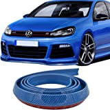 Front Bumper Lip Fits Universal Vehicles | 100 Inch Blue PVC Front Lip Finisher Under Chin Spoiler Add On by IKON MOTORSPORTS