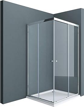 Sogood: Cabina de ducha de esquina Rav16K 75x75x190 Mampara de ...