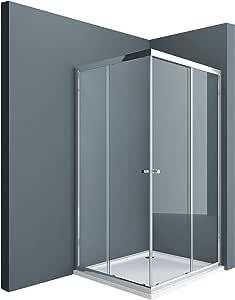 Sogood: Cabina de ducha de esquina Rav16K 70x90x190 Mampara de vidrio de seguridad templado de 6mm transparente, puerta corredera: Amazon.es: Bricolaje y herramientas