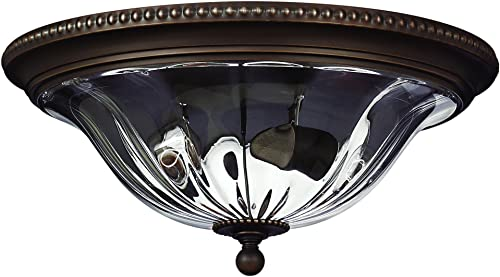 Hinkley 3616OB Traditional Two Light Flush Mount from Cambridge collection in Bronze Darkfinish,