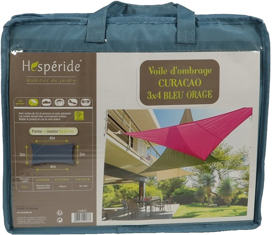 Toldo vela parasol rectangular 3 x 4 m - Color AZUL GRIS: Amazon ...