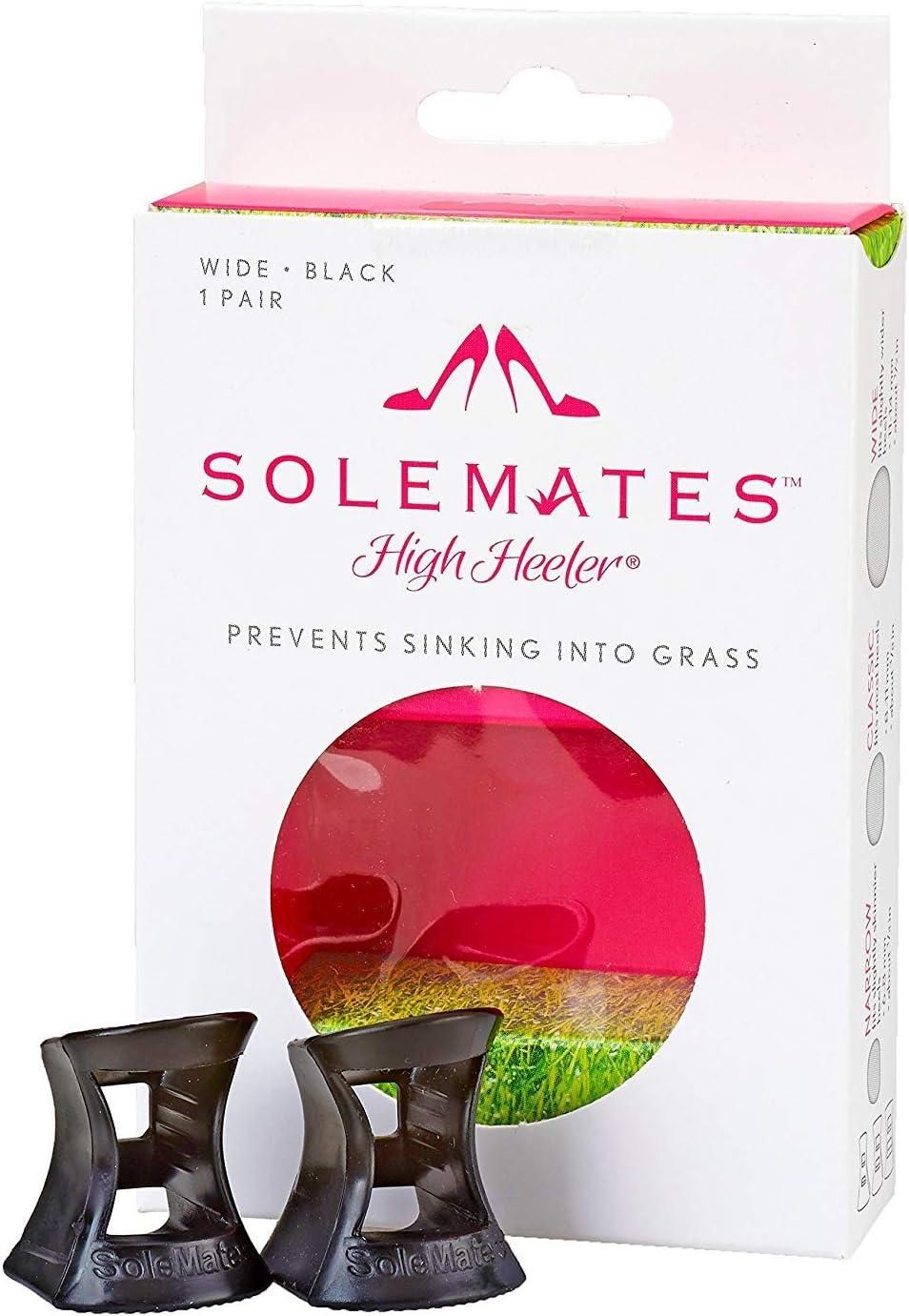 Solemates High Heel Protectors (Black, Wide)