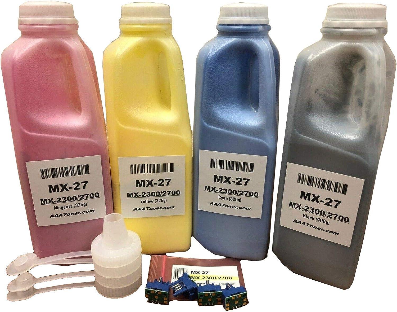 100g//Bottle,5 Black,5 Cyan,5 Magenta,5 Yellow No-name Refill Copier Color Laser Toner Powder Kit for Sharp MX-4501 MX-2000 MX-4100 MX-4101 MX-5001 MX-2301n MX-2300N Laser Toner Power Printer