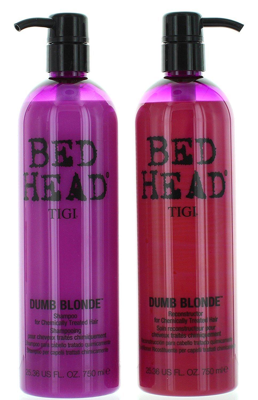 TIGI Bed Head Dumb Blonde Shampoo and Reconstructor Conditioner Duo - 25.36oz each by TIGI B001DDCW6S