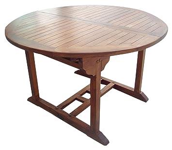 Homegarden Tisch Rund Gartentisch Aus Holz Mit Olfinish Cm 120 160 X
