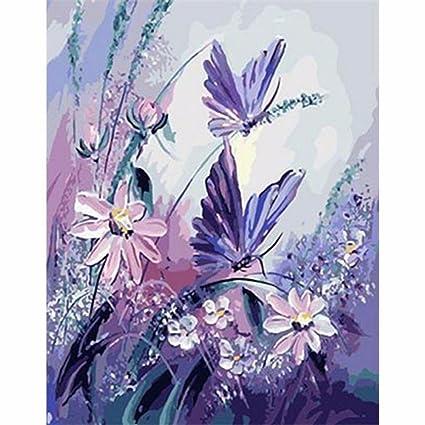 hidrru pintada a mano arte Digital, pinturas al óleo de flores con ...