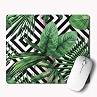 iKraft Gaming Mouse Pad Custom Vector Leafs Printed Mouse Pad