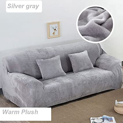 Taiyucover Warm Plush Anti-wrinkle 3-Seater Sofa Covers;Stretch Sectional  Large Sofa Furniture Protector;Anti-skid Armchair Loveseat Sofa Slipcovers  ...