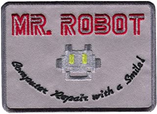 Titan One Europe Tactical Mr Robot Computer Repair With a Smile Cosplay Costume Embroidered Patch