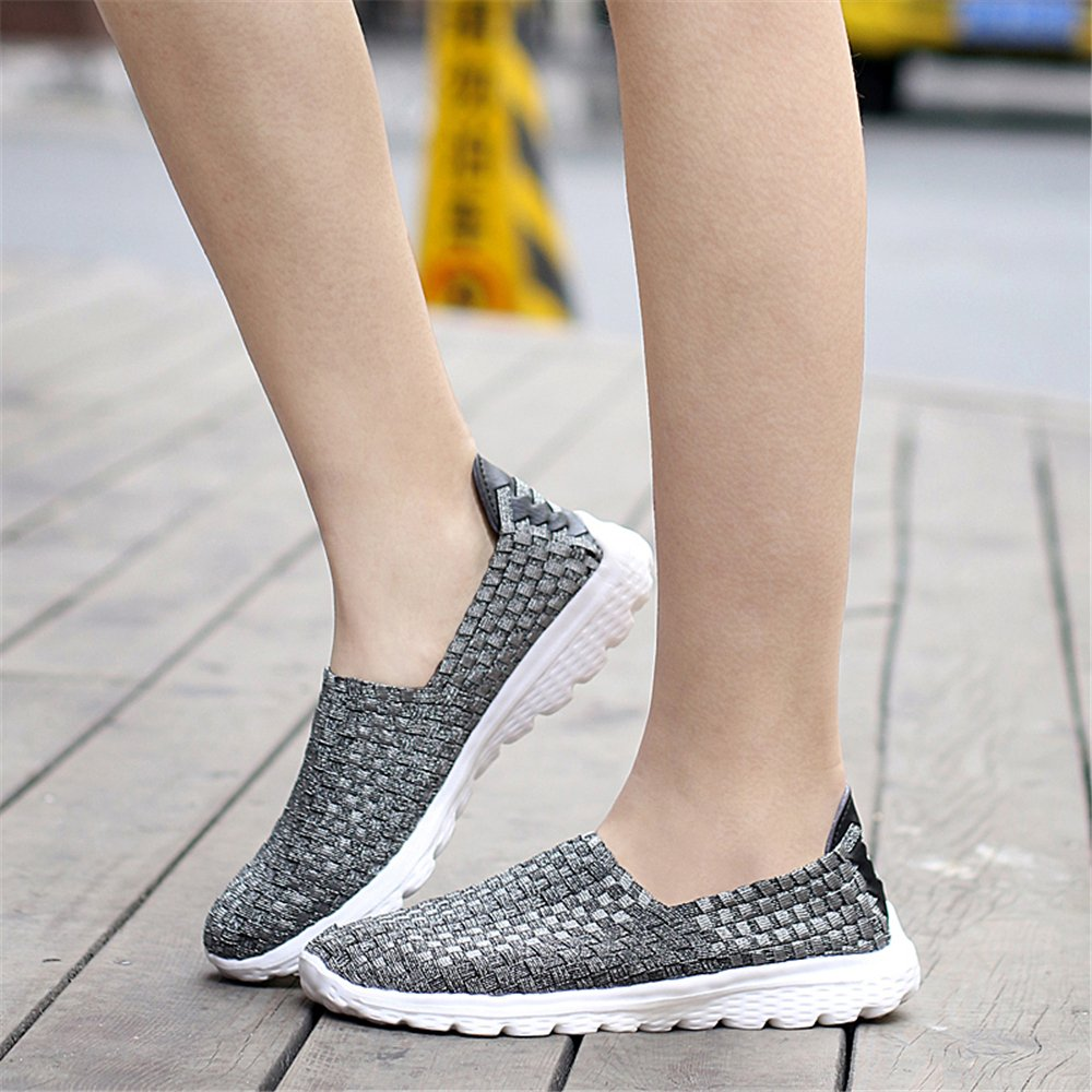 YMY Women's Woven Sneakers Casual Lightweight Sneakers - Breathable Running US Shoes B07DXXB56P EU38/7.5 B(M) US Running Women|Gray 5d9105