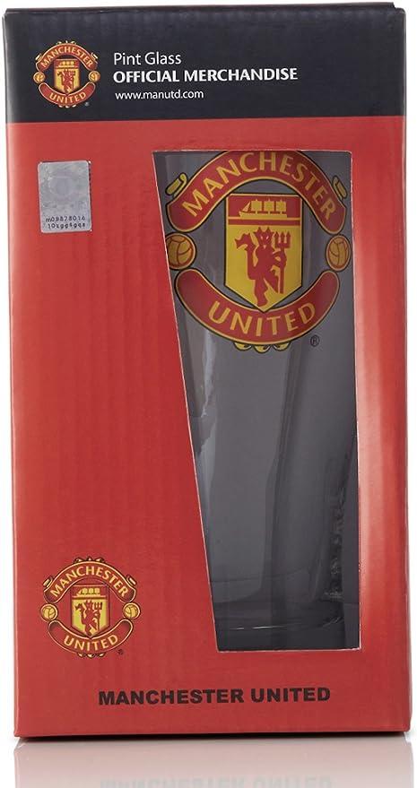 Amazon.com: Manchester United F.C. – Vaso de cerveza: Sports ...