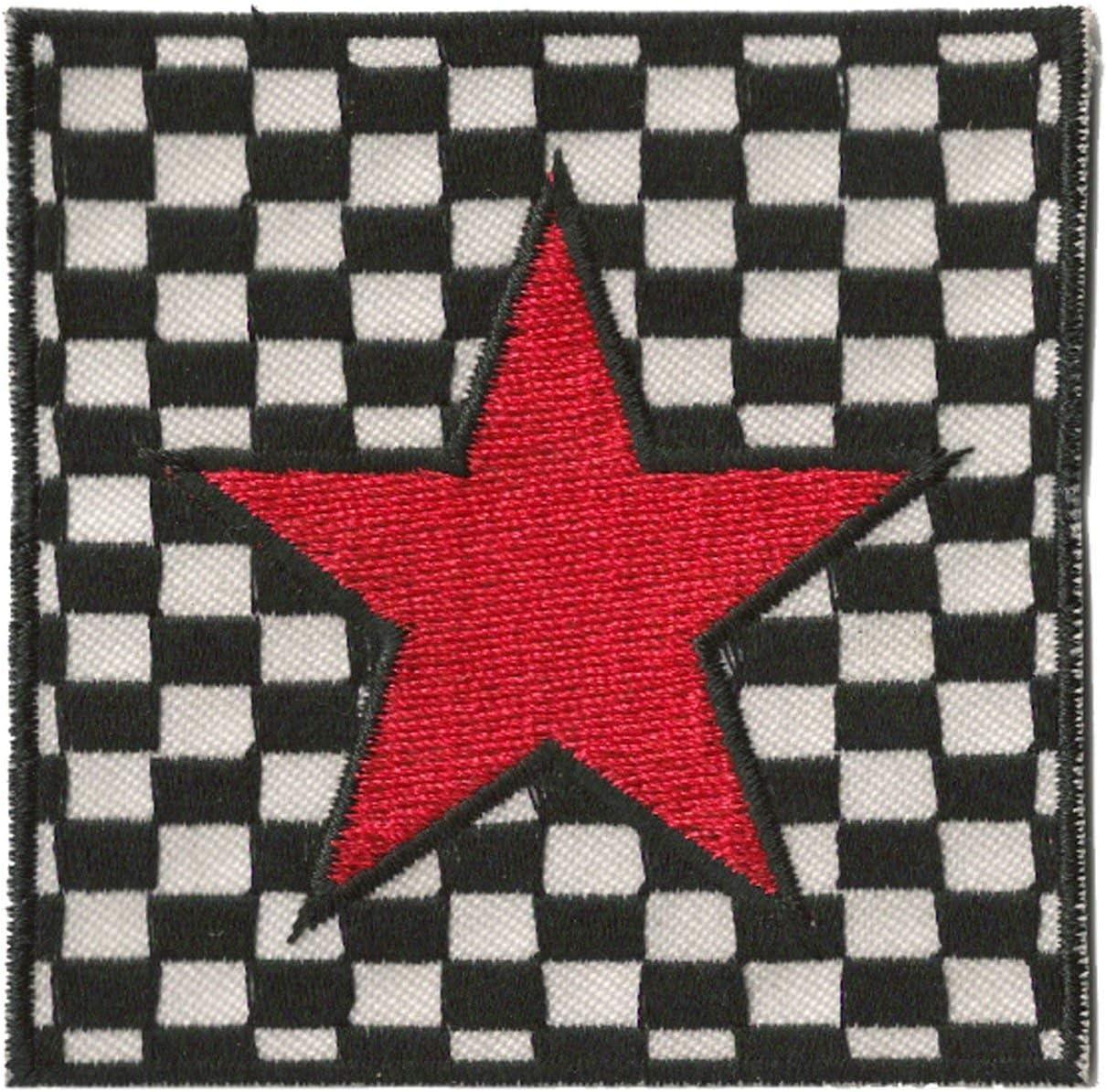 Nagapatches Parche Parche para Planchar Rojo Star Ska