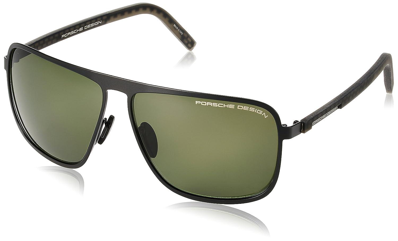 aaa5d609efe Amazon.com  Porsche Design P8641 A (Black) Men s Designer Sunglasses 62-12   Clothing