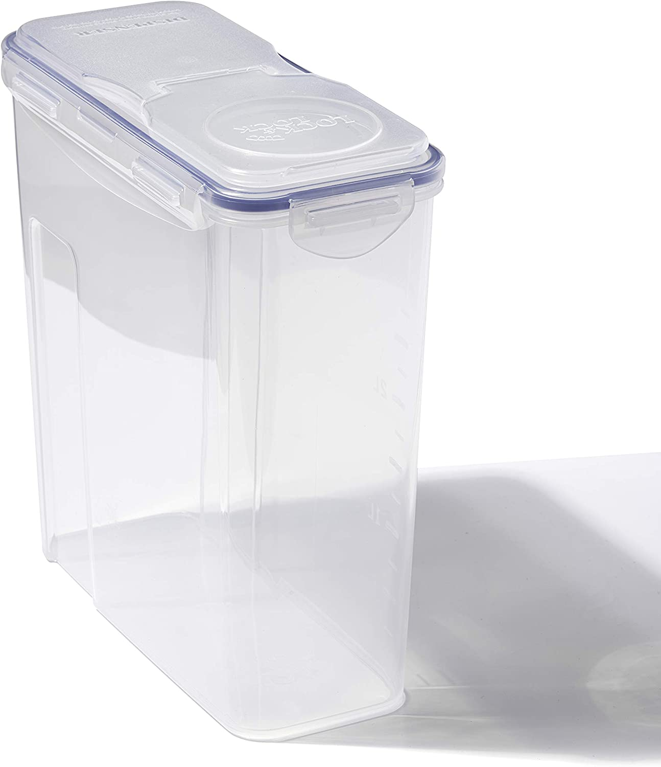 LOCK & LOCK Easy Essentials Food lids (flip-top) / Pantry Storage/Airtight containers, BPA Free, top-16.5 Cup-for Cereal, Clear
