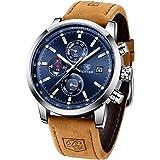 BENYAR Reloj Cronógrafo para Hombre Movimiento de Cuarzo Moda Negocios Deportes Watch 30M Impermeable Elegante Regalo de…