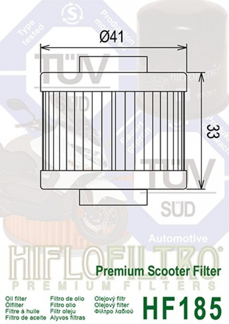 /Ölfilter Peugeot Elyseo f/ür 125/cc von 2004/A 2009/HF185/Staat NEU /Ölfilter HIFLOFILTRO HF185