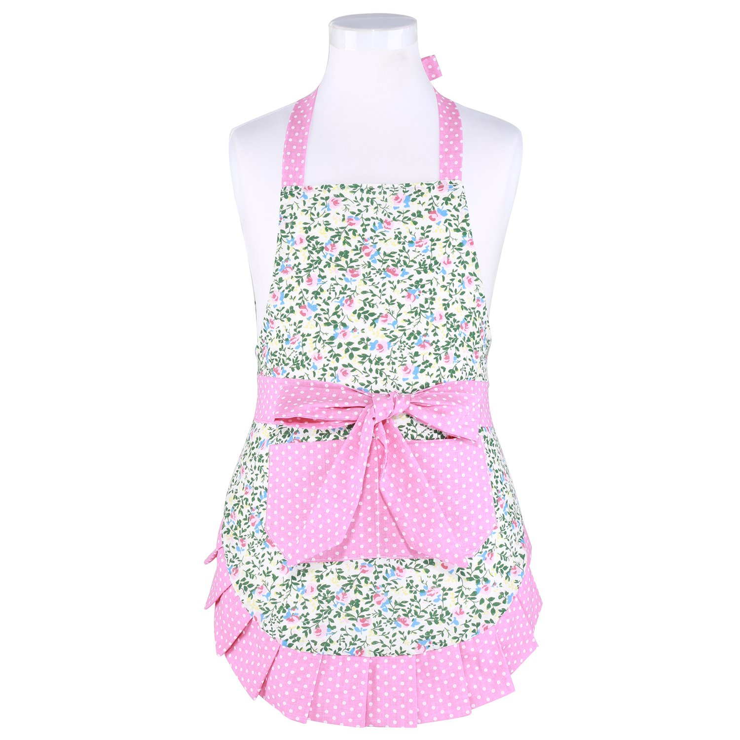 Neoviva Child Aprons with Big Pocket for Play Kitchen, Style Kathy, Alice's Secret Garden