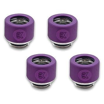 12mm OD Black EKWB EK-HDC Compression Fitting for EK Rigid Tubing 6-Pack