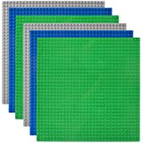 "Lekebaby Classic Baseplates 10""x10"" Large Building Board Base Plates 100% Compatible with All Major Brands, 6 Pack…"