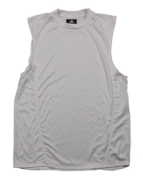 1d2d0f68d adidas Mens CLIMALITE Sleeveless Workout Tee Shirt Tank Top, White (2XL,  White)