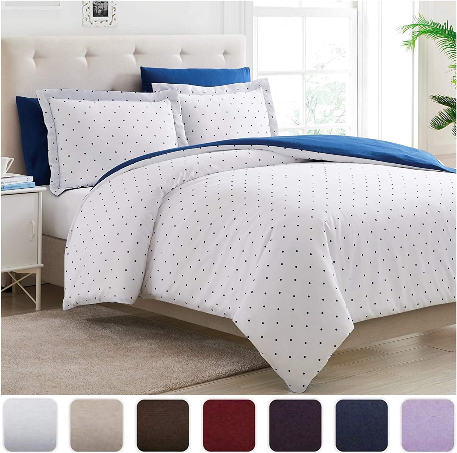Fade Mellanni Duvet Cover Set Hotel Collection  Double Brushed Microfiber 1800 Bedding  Wrinkle Stain Resistant